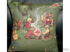 50's retro mid century fabric idea for MBR vintage western cowboy
