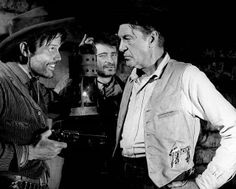 MAN OF THE WEST (1958) - Jack Lord threatens Gary Cooper - Directed by Anthony Mann - United Artists.