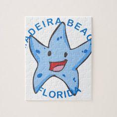 Florida - Madeira Beach Jigsaw Puzzle - summer gifts season diy template ideas