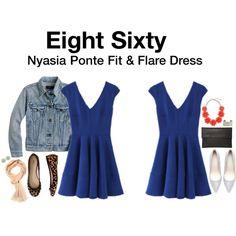 Nyasia Ponte Fit & Flare Dress