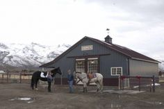 This horse barn was built for Carla of Spring Creek, NV  Special Features:    Morton's Hi-Rib Steel  Cupola  Diamond 'M' Sliding Doors  Double Dutch D...