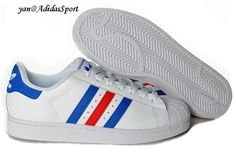 the latest ebf43 7b053 Adidas Originals Superstar Amantes Blanco Azul Rojo Zapatillas Comprar  Baratas Amantes, Compras, Blanco,