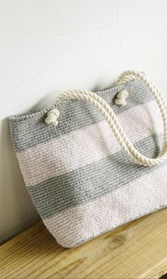 free crochet purse/tote patterns Direct link to PDF pattern.... http://gosyo.co.jp/english/pattern/eHTML/ePDF/1309/808bag2_Miel_Striped_Bag.pdf