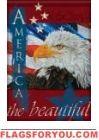 Patriotic Eagle Garden Flag