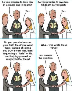 Wedding vows funny humor lol 58 Ideas for 2019 Funny Images, Funny Photos, Best Funny Pictures, Funny Love, Hilarious, Funny Stuff, Funny Things, Funny Sarcastic, You Prom