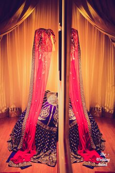 Sabyasachi- royal blue and red outfit!