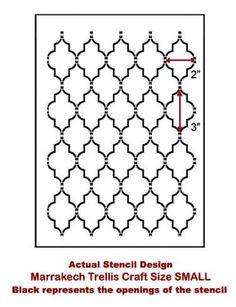 Cutting Edge Stencils - Marrakech Trellis Craft Stencil/ less paint!!!