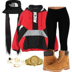 Didnt choose thug life , thug life choose me ? by jalexiawestbrook on Polyvore featuring Joyrich, Timberland and Versus