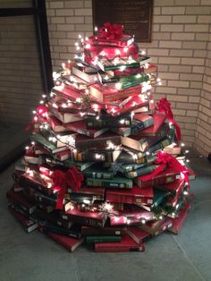 The book tree at the Guernsey Memorial Library :)