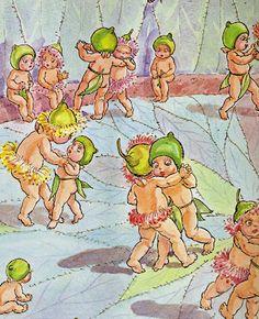 The Bird Bath: Vintage Children's Book Illustration #1