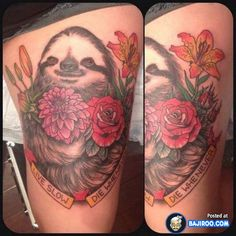 sloth tattoo....strangely awesome