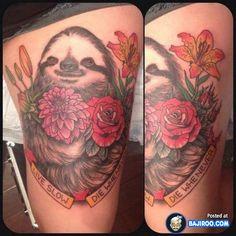 sloth tattoo....strangely awesome