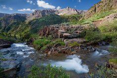(YB-10084)  Sneffels Creek and Mendota Peak - San Juan Mountains, Colorado.