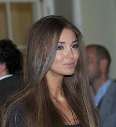 Lara lieta with beautiful ash brown hair
