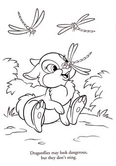 Thumper - Twitterpated - Disney Coloring Pages
