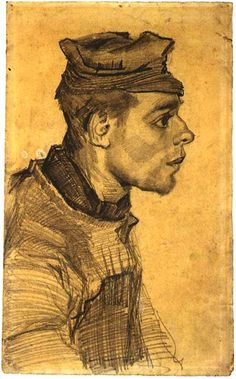 Head of a Young Man, 1884-85, Vincent van Gogh