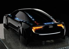 Black, Lighted Up, Car