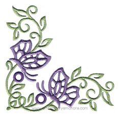 Cutwork Corners Machine Embroidery Design  Cutc1008