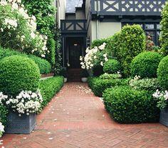 Formal city garden by Elizabeth Everdell Garden Design.