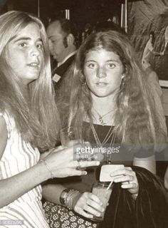 Sydney Lawford and Caroline Kennedy at the RFK Pro-Celebrity Tennis Tournament pre-party.