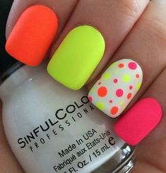 Mattee Ploka Dot Nail Art #nailart