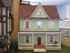 Vermont Farmhouse Dollhouse Kit NEW IN BOX Half Inch Scale Colonial HSGC 37500