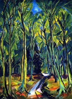 ERICH HECKEL  Path in the Forest (1914)