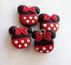 Minnie or Mickey charms polymer clay handmade charms by ayarina