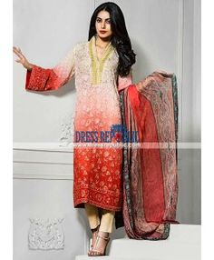 Vaneeza Eid Collection 2015 Silk Chiffon Party wear