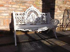 Cast iron garden bench from pierce's of wexford foundry wide . Cast Iron Garden Bench, Pub Interior, Outdoor Furniture, Outdoor Decor, Interiors, Ideas, Home Decor, Decoration Home, Room Decor