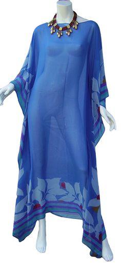 1970s VALENTINO Silk Caftan MAXI Dress Extremely Rare!