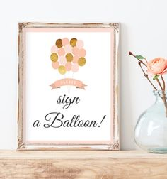 Sign Our Guest Book Gold Guest Book Sign by MissDesignBerryInc