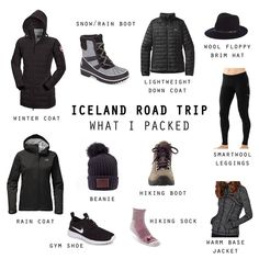 What to pack for Iceland in October Travel Guide 6 Day Iceland Road Trip Road Trip Outfit, Road Trip Packing, Road Trip Clothes, Iceland Road Trip, Iceland Travel, October Outfits, Iceland Adventures, Winter Travel Outfit, Winter Travel Packing