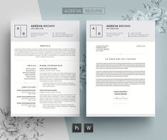 Resume Templates Creative Resume Template  Cover Letter Wordpappermint On