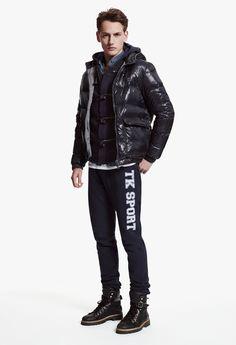 The Kooples SPORT Man collection FW 2013-14 #shiny #padded #jacket #dufflecoat #style #cardigan   #thekooples #sport