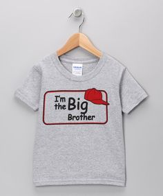 Take a look at this Swinging on a Star Gray 'I'm The Big Brother' Tee - Toddler & Boys on zulily today!