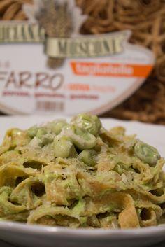 Fettuccine+al+farro+di+Luciana+Mosconi+alle+fave