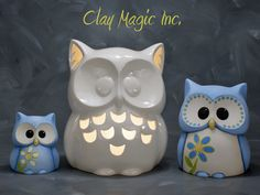 Clay Owl, Paper Owls, Cute Clay, Wise Owl, Ceramic Clay, Piggy Bank, Embellishments, I Shop, Pottery