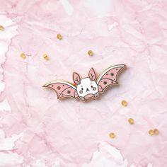 Sweet Fang Bat Enamel Pin by NightlyMade on Etsy