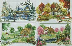 14ct Complete Counted Cross Stitch kit Needlework 4 New seasons NEW Xmas GIFT