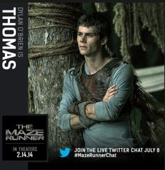 Second 'Maze Runner' character card released: Dylan O'Brien as Thomas
