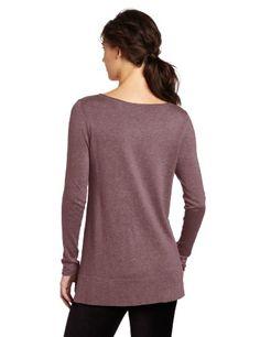 Lilla P Women's Long Sleeve Henley Tunic Sweater