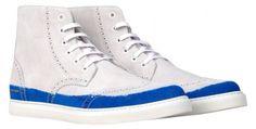 Marc Jacobs Blue Trim Suede Wingtip Sneakers