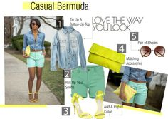 """How To Style Bermuda Shorts for Spring"" by thedaileigh on Polyvore"
