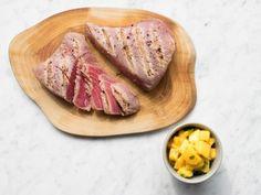 Grilled Tuna with Cilantro