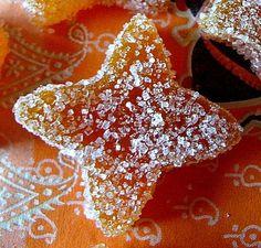Pâte de fruit abricot No Bake Desserts, Dessert Recipes, Bonbon Caramel, Candied Fruit, Preserving Food, Edible Art, Simple Syrup, Flan, Tupperware