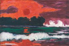 Emil Nolde, Tropensonne, 1914, 71 x 104,5 cm, oil on canvas. Nolde Foundation Seebüll, © Nolde Foundation Seebüll, 2013.