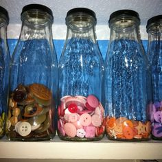 Starbucks coffee bottles, how I organize my craft room - Continued!