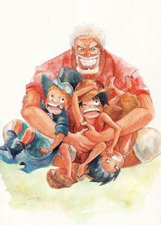 Garp Sabo Luffy Ace