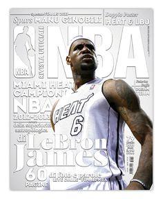 Rivista NBA / 2013 by Francesco Poroli, via Behance